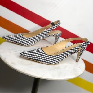 NEW Urban Outfitters gingham slingback Heels